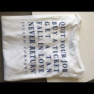 Quit your job graphic t shirt sz M